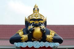 Rahu statue at the temple in thailand Stock Photos