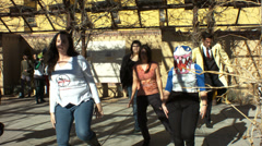 Thriller dance comicon 2014 Stock Footage
