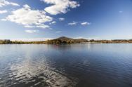 Stock Photo of burley griffin lake near national gallery. canberra. australia