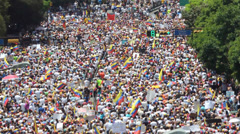 Protest for freedom in Venezuela - stock footage