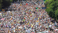 Stock Video Footage of Protest for freedom in Venezuela