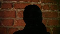 Self shadow on wall Stock Footage