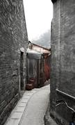 path of old town in hong kong - stock photo