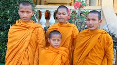 Monks boys. Stock Footage