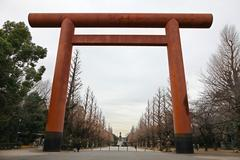 entrance to japanese temple - stock photo