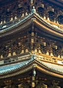 japanese temple details - stock photo