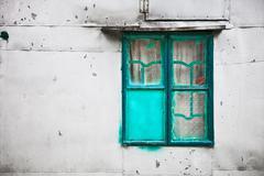 Old metal window Stock Photos