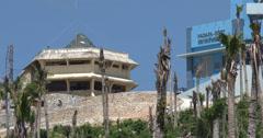 4K Hurricane Damage Radar Weather Station Guiuan Typhoon Haiyan Stock Footage
