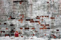broken brick texure - stock photo