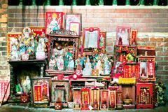 Messy worship spotin asia Stock Photos