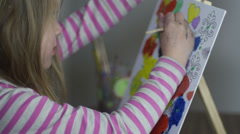 Colorful painter Stock Footage
