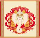 Stock Illustration of creative illustration of hindu lord ganesha