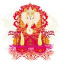 Stock Illustration of diwali ganesha design