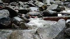 Mountain Stream Flowing Through Rocks 1 Stock Footage