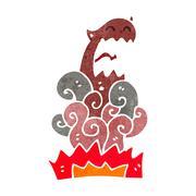 Retro cartoon devil appearing Stock Illustration