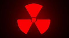 flash light nuclear danger sign - stock footage