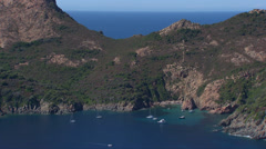 Aerial corsica capo rosso tower mountain Stock Footage