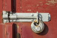 Stock Photo of Weathered lock and bolt