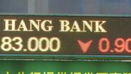 Stock Video Footage of Hong Kong Hang Seng Index Share Price China Asia