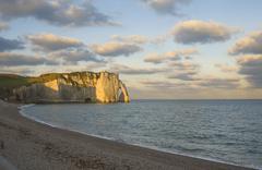 etretat, cliffs - stock photo