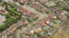 Environmental damage by flooding, Surrey, UK - stock footage