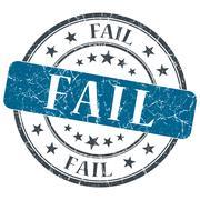 Fail blue grunge round stamp on white background Stock Illustration