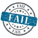 Stock Illustration of fail blue grunge round stamp on white background
