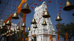 Bells in Hindu temple at Hyderabad India Stock Footage