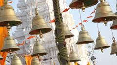 Hindu Temple bells  Hyderabad India - stock footage