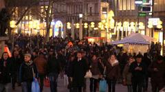 Munich Street scene Stock Footage