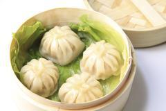 Steamed Soup Dumpling - stock photo