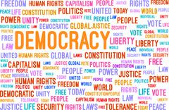 Democracy Word Cloud Concept Stock Illustration