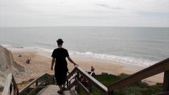 "Algarve, Portugal. Famous ""Falesia"" Beach Ppl D Stock Footage"