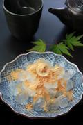Warabimochi (Bracken-starch dumpling) - stock photo