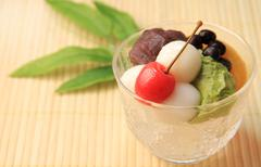 Anmitsu (Japanese dessert) - stock photo