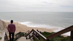 Algarve. Portugal. Famous Falesia Beach Ppl C Stock Footage