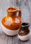 Earthenware jugs Stock Photos