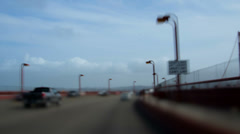SF bridge to bridge timelapse Stock Footage