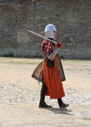 Medieval Knight Walking Stock Photos