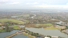 Rising floodwater, Southwest England, UK Stock Footage