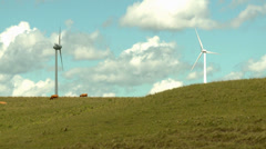 Wind Turbines - Windfarm in Água Doce, SC, Brazil. Stock Footage