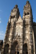 Gothic cathedral of saint gatien in tours, loire valley  france Stock Photos