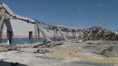 HD Hurricane Wind Damage To Building Typhoon Haiyan Stock Footage