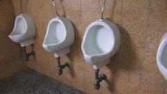 Bathroom Toilets, Urinals, Stalls Stock Footage