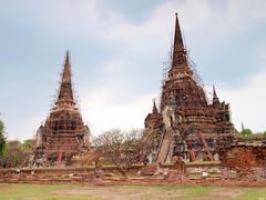 Pagoda at wat phra sri sanphet temple, ayutthaya, thailand Stock Photos