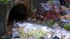 Sewage Drain Stock Footage