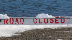 Close-Up of Road Closed Sign Stock Footage