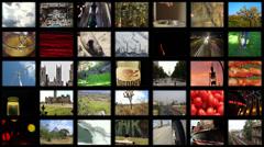 Video Wall A Loop (2.7K) Stock Footage