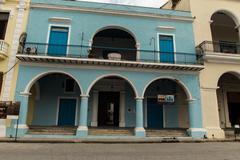 colonial house in la havana - stock photo