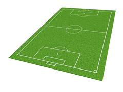 Soccer or football field isolate on white background Stock Illustration